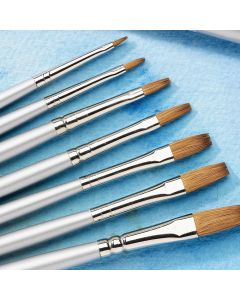 Student Flat Sable Brushes