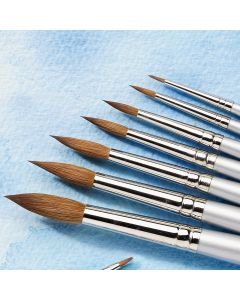 Student Round Sable Brushes. Each