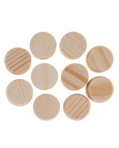 Soft Wooden Wheels Without Holes. Pack of 10