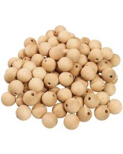 Sanded Wooden Balls. Pack of 10