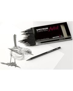 Spectrum Artist Slim Graphite Stick Assortment. Set of 12.