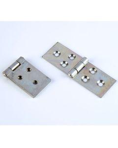 Steel Backflap Hinges - 25mm. Pack of 10 pairs