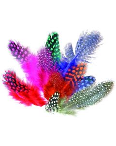 Coloured Spotted Feathers - 10g Bag