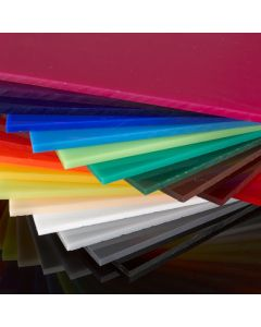 Coloured Perspex Cast Acrylic Sheet - 1000 x 500 x 3mm - Assorted Colours