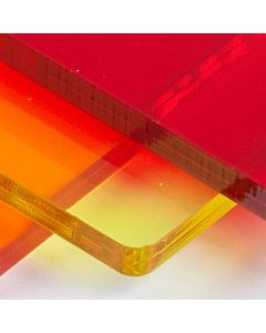 Transparent Coloured Perspex Cast Acrylic Sheets 3mm