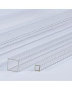 Clear Square Extruded Acrylic Tubes