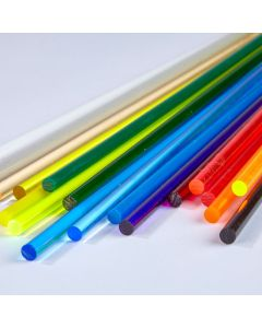 Coloured Round Extruded Acrylic Rods - 9.5mm dia.