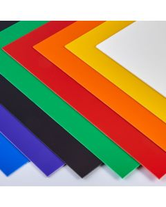 Coloured High Impact Polystyrene Sheets - 508 x 457mm