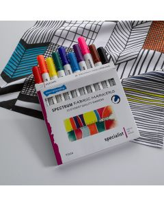 Spectrum Fabric Markers. Pack of 10