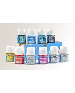 Pebeo Setacolor Glitter Paints. Set of 10