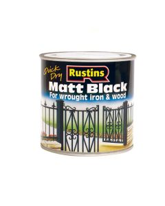 Rustins Matt Black Paint