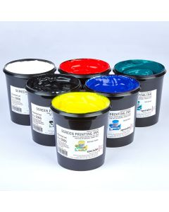 Specialist Crafts Water-Based Textile Ink 500g. Set of 6